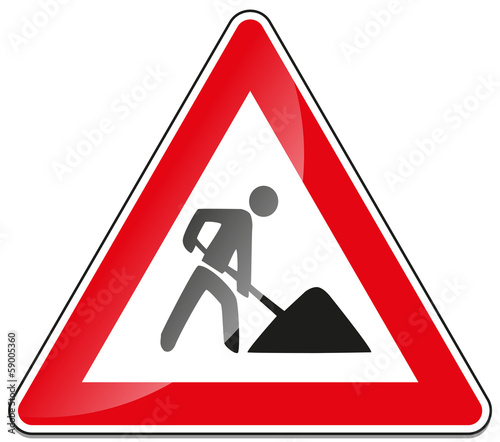 Baustelle schild clipart  Baustelle Baustellenschild Verkehrsschild Verkehrszeichen ...