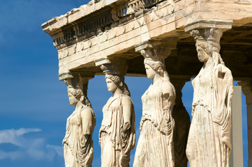 Caryatid sculptures, Acropolis of Athens, Greece