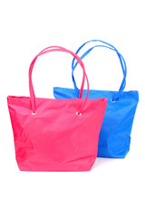 Pink and blue bags