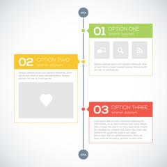 Modern timeline design template