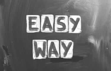 Easy Way Concept