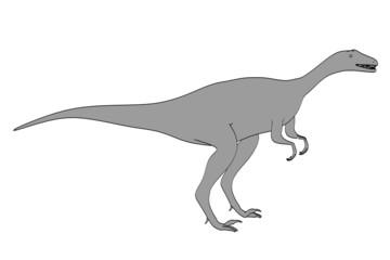 cartoon image of eoraptor animal