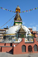Непал, Катманду, древняя ступа