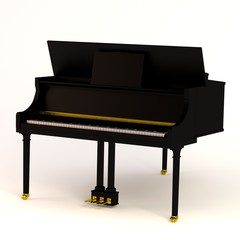 realistic 3d render of clavier