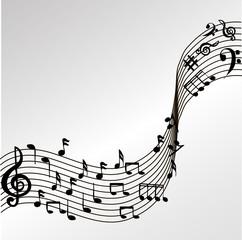 вектор ноты музыка