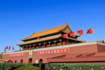 Door stickers Beijing Forbidden City Landmark in Beijing China