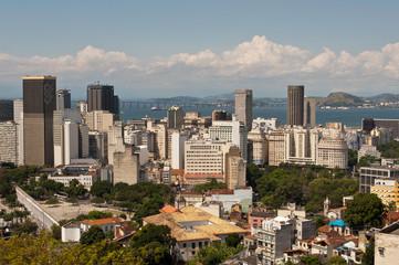 Skyline of Downtown Rio de Janeiro, Brazil