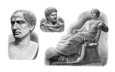 Fototapeta Ancient Rome : Emperors & Empress - Sculptures obraz