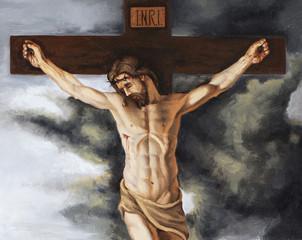 olio su tela che rappresenta la crocifissione