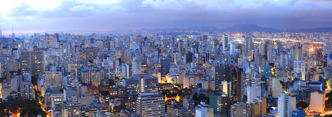 Papiers peints Brésil Aerial view of Sao Paulo in the night time