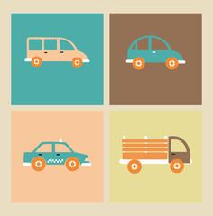Printed kitchen splashbacks Cartoon cars transport design