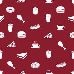 fast food icons pattern eps10