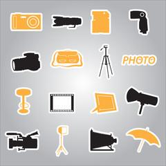photographic stickers eps10