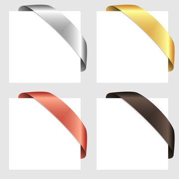 Vector retro ribbon set
