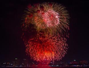 Fireworks international festival in Pattaya