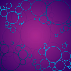 Abstract background with purple shining circles