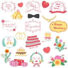 vector illustration of happy wedding design