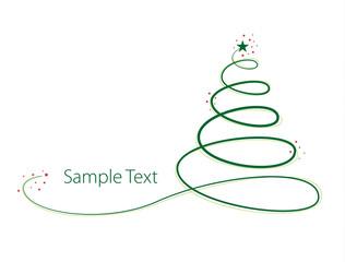 Moderner Weihnachtsbaum mit Textelement