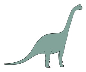 cartoon image of brachiosaurus dino