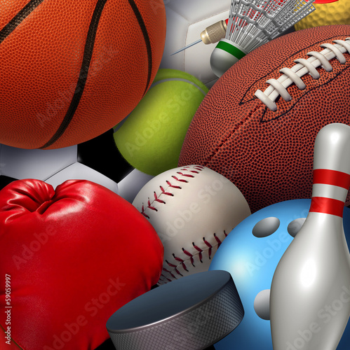 Wall mural Sports Background
