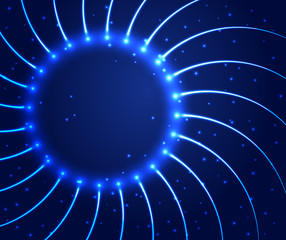 Abstract shining circle background
