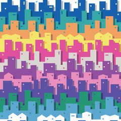 colorful cityscape pattern