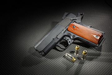 Spotlit handgun