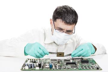Holding Microchip