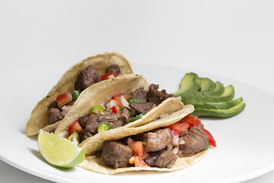 Delicious carne asada tacos