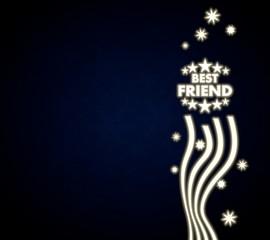 a best friend design with stars