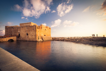 Deurstickers Cyprus Late afternoon view of the Paphos Castle (Paphos, Cyprus)