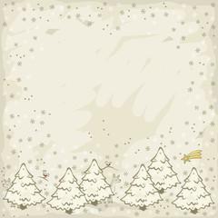zaśnieżone choinki świąteczne zimowe tło z miejscem na tekst