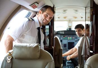Pilot Entering Private Jet