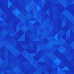 Geometric style abstract background with vivid blue color tones