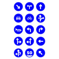 traffic signs group vector illustration