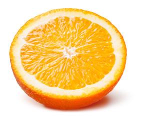 Slice of orange. Fruit isolated on white