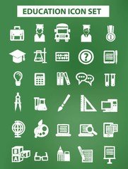 Education and science icons,Chalk version