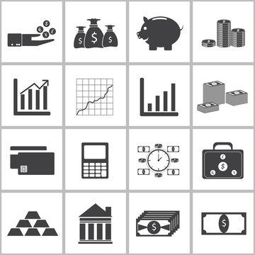 icons of money set. illustration eps 10