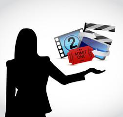 movie presentation illustration design