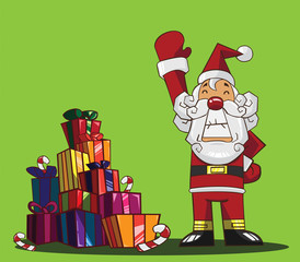 Santa Claus and Merry Christmas