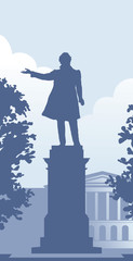 Pushkin monument in the Saint Petersburg