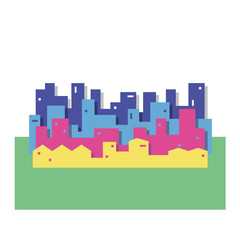 colorful cityscape vector illustration