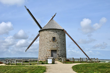 France, the Moidrey windmill in Pontorson