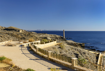 View from Villaricos to Aguilas, Almeria, Andalusia, Spain