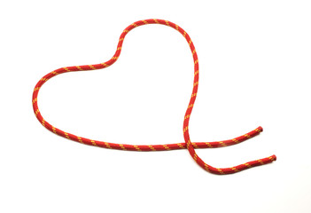 heart made with rope