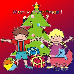 Merry Chrisstmas - kids and gifts