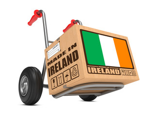 Made in Ireland - Cardboard Box on Hand Truck.