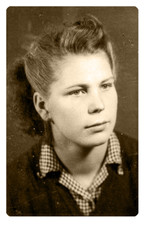 An unidentified young woman - CIRCA 1940 - Portrait
