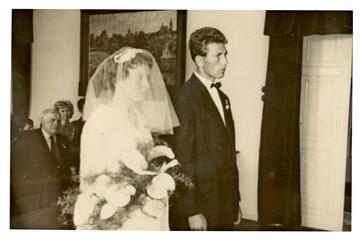 Circa 1955 - Bride and Groom