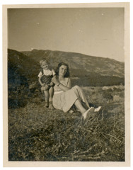 Rhodope Mountains - mother and kid - circa 1950